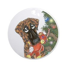 Holiday Nbr Bear Ornament (Round)