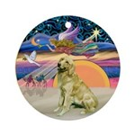 Xmas Star /Golden Retriever 1B Ornament (Round)
