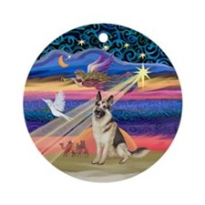Xmas Star / G Shep #3 Ornament (Round)