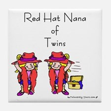 Red Hat Nana of Twins Tile Coaster
