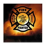Firefighter maltese Drink Coasters