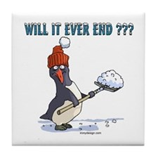 Snowbound Penguin Tile Coaster