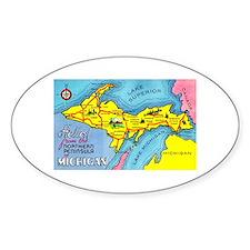 Michigan Northern Upper Peninsula Oval Bumper Stickers