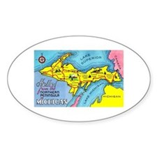 Michigan Northern Upper Peninsula Oval Decal