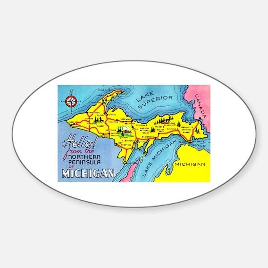 Michigan Northern Upper Peninsula Oval Decal