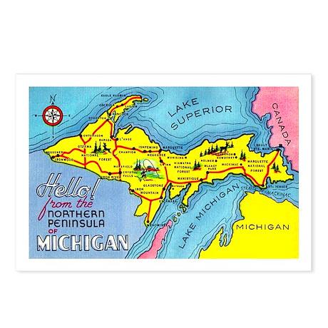 Michigan Northern Upper Peninsula Postcards (Packa