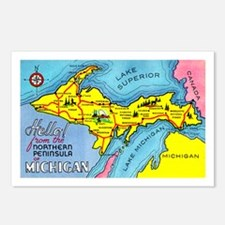 Michigan Northern Upper Peninsula Postcards (Packa