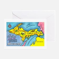 Michigan Northern Upper Peninsula Greeting Card