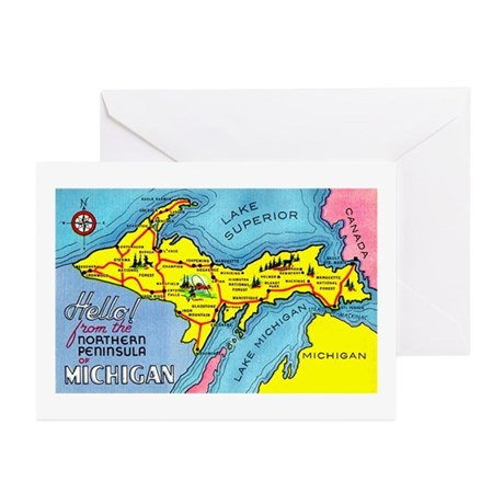 Michigan Northern Upper Peninsula Greeting Cards (