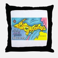 Michigan Northern Upper Peninsula Throw Pillow