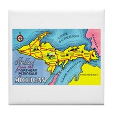 Michigan Northern Upper Peninsula Tile Coaster