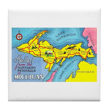 Michigan Northern Upper Peninsula Tile Coaster