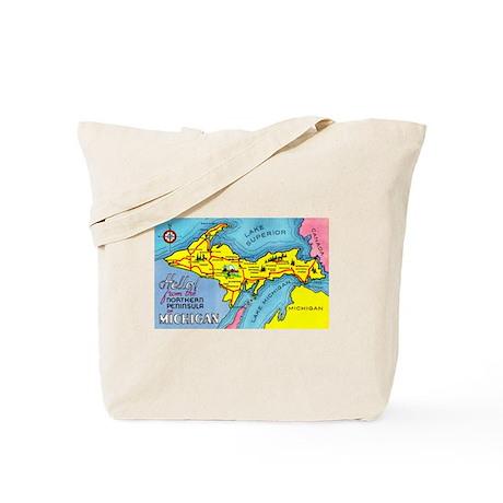 Michigan Northern Upper Peninsula Tote Bag