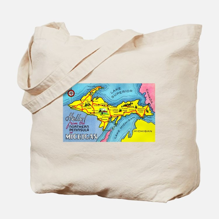 Michigan Northern Upper Peninsula Tote Bag