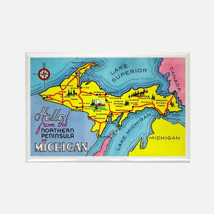 Michigan Northern Upper Peninsula Rectangle Magnet