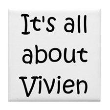 Cute Vivien Tile Coaster