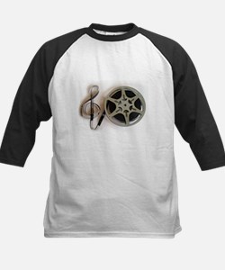 Clef and Film Reel by Leslie Harlo Baseball Jersey