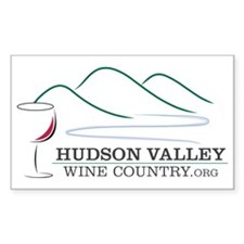 Hudson Valley Wine Country Rectangle Decal