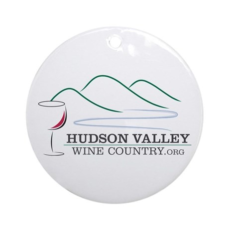 Hudson Valley Wine Country Ornament (Round)