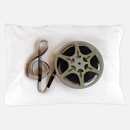 Clef and Film Reel by Leslie Harlow Pillow Case