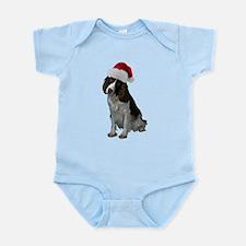 Springer Spaniel Santa Infant Bodysuit