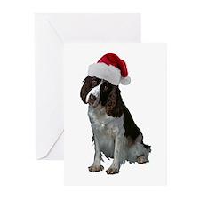 Springer Spaniel Santa Greeting Cards (Pk of 10)