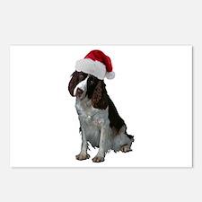 Springer Spaniel Santa Postcards (Package of 8)