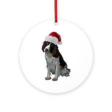 Springer Spaniel Santa Ornament (Round)