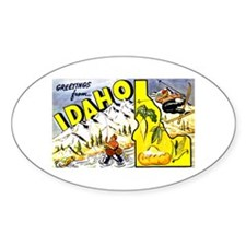 Idaho State Greetings Oval Decal