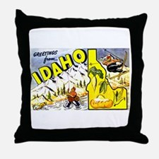 Idaho State Greetings Throw Pillow