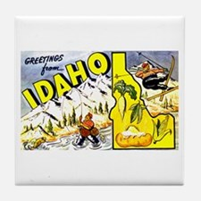 Idaho State Greetings Tile Coaster