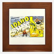 Idaho State Greetings Framed Tile