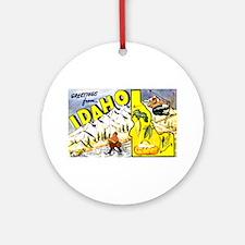 Idaho State Greetings Ornament (Round)