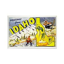 Idaho State Greetings Rectangle Magnet