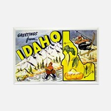 Idaho State Greetings Rectangle Magnet