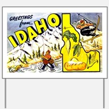 Idaho State Greetings Yard Sign