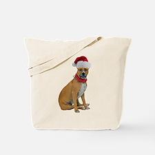 Staffie Christmas Tote Bag