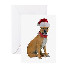 Staffie Christmas Greeting Card