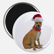Staffie Christmas Magnet