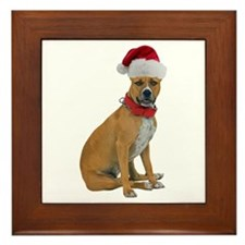 Staffie Christmas Framed Tile