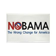 Anti-Obama NOBAMA Rectangle Magnet