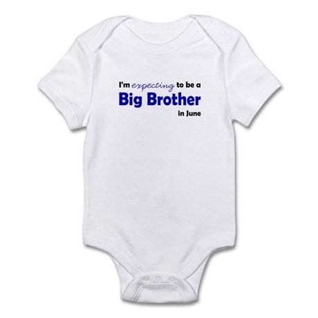 """Expecting"" Big Brother June Infant Bodysuit"