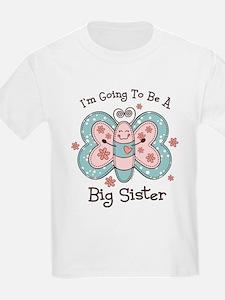Butterfly Future Big Sis T-Shirt
