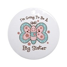 Butterfly Future Big Sis Ornament (Round)
