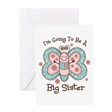 Butterfly Future Big Sis Greeting Card