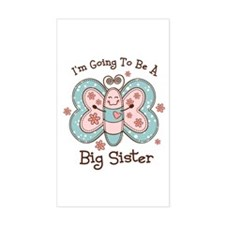 Butterfly Future Big Sis Rectangle Decal