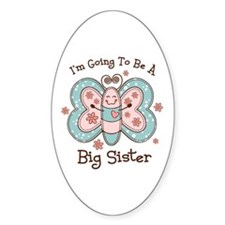 Butterfly Future Big Sis Oval Decal