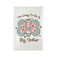 Butterfly Future Big Sis Rectangle Magnet