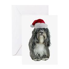 Tibetan Terrier Christmas Greeting Card