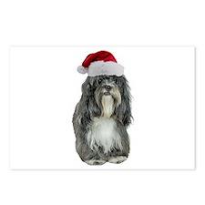 Tibetan Terrier Christmas Postcards (Package of 8)